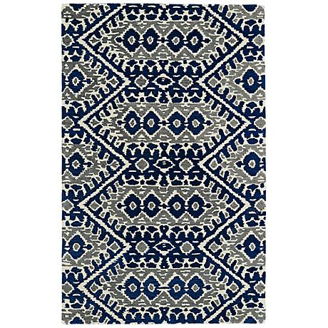Kaleen Global Inspirations GLB01-17 Blue Wool Area Rug