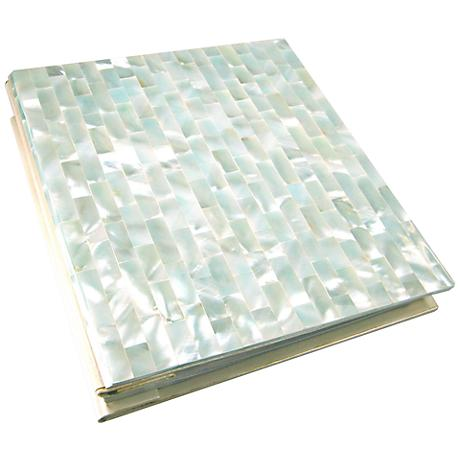 Soft Blue Mother of Pearl 5x7 Photo Album
