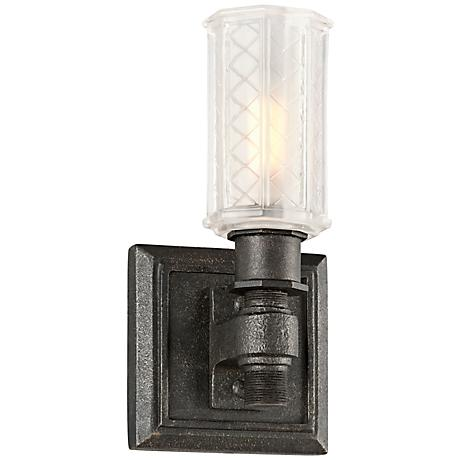 """Vault 9 1/4"""" High Aged Pewter Wall Sconce"""