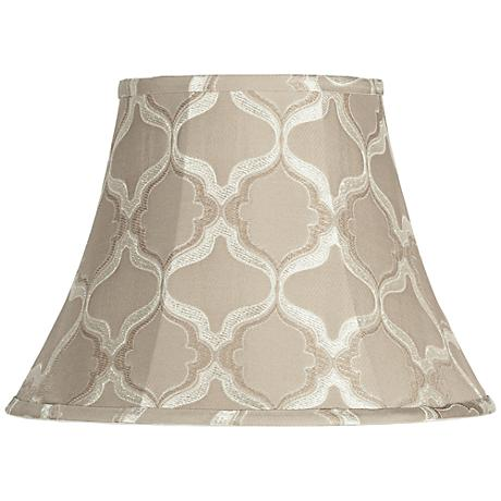 Tan Moroccan Embroidered Bell Shade 8x15x11 (Spider)