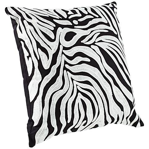 "Oasis 18"" Square Zebra Stripe Throw Pillow"
