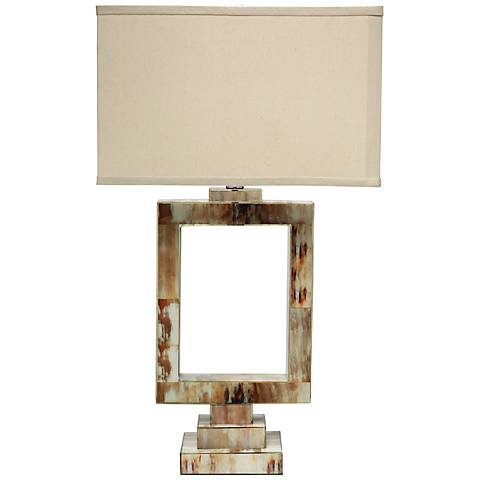 Jamie Young Odeum Faux Horn Table Lamp