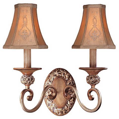 Jessica McClintock Salon Grand Patina 2-Light Wall Sconce - Kathy Ireland Ramas De Luces Double Wall Sconce - #07220 Lamps Plus