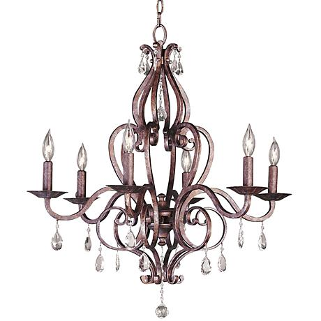Feiss Cherie Collection Six Light Chandelier