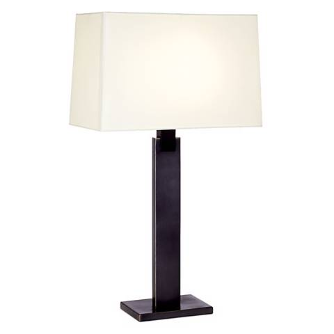Sonneman Monolith Black Brass Table Lamp