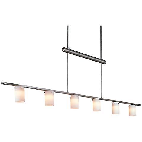 George Kovacs Adjustable Six Light Bar Chandelier