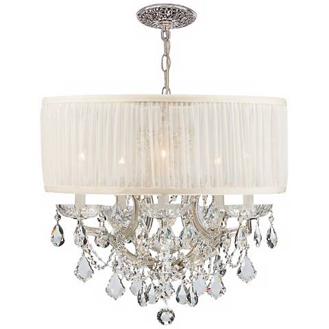 Bwood Collection Chrome 6 Light Crystal Chandelier