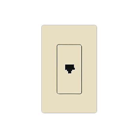 Lutron Claro Light Almond Phone Jack Faceplate