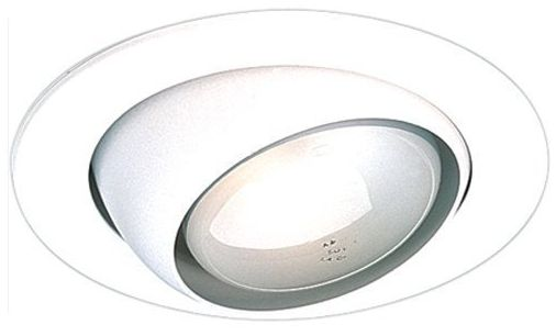 4  White Gimbal Recessed Light Eyeball Trim  sc 1 st  L&s Plus & 4