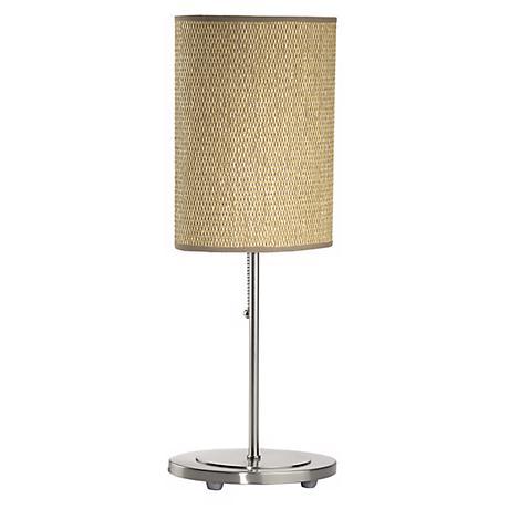 Lite Source Rattan Drum Table Lamp