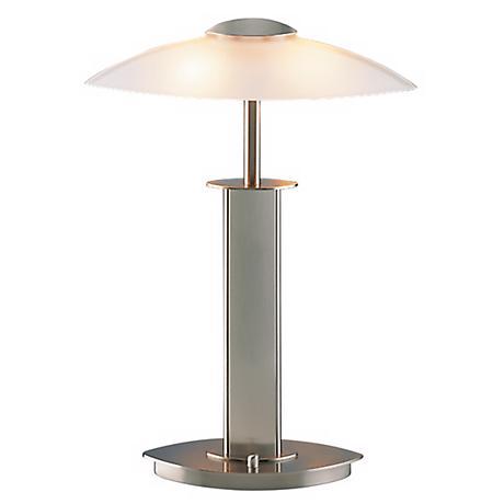 Holtkoetter Satin Nickel Finish Halogen Desk Lamp