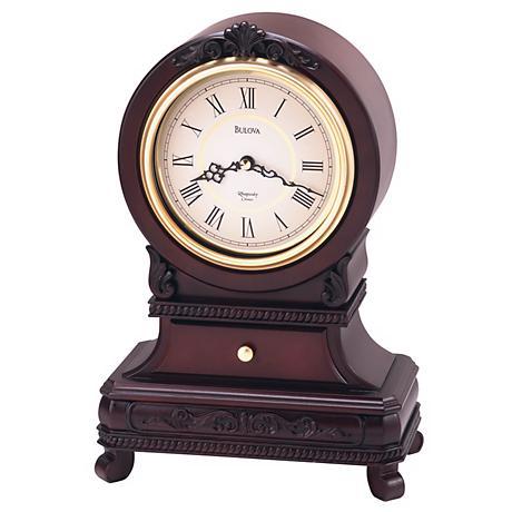 "Bulova Knollwood 13 1/4"" High Mantel Chime Clock"