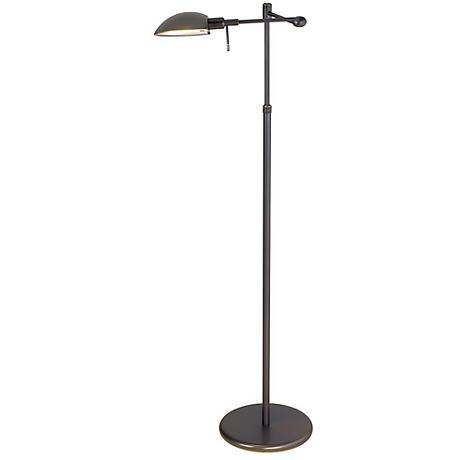 Old Bronze Swing Arm Pharmacy Holtkoetter Floor Lamp