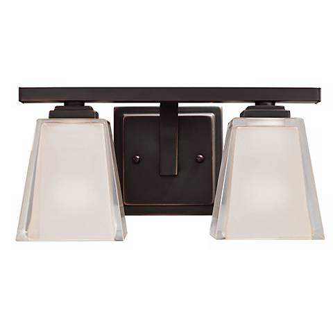 "Metro Kool Bronze 12 1/2"" Wide Bath Light Fixture"