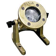 Focus landscape lighting lamps plus cast brass mr16 outdoor underwater landscape light aloadofball Choice Image