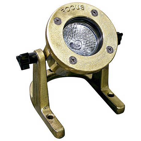 Cast Brass MR16 Outdoor Underwater Landscape Light