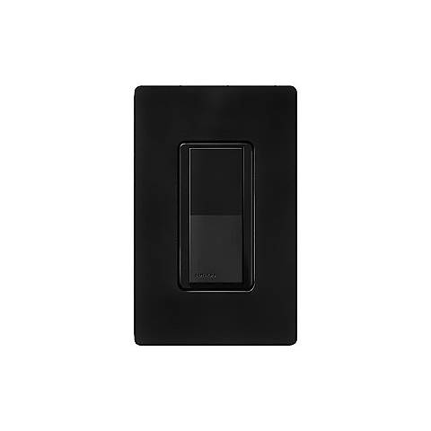 Lutron Diva Midnight Black SC Single Pole Wall Switch