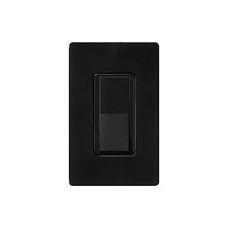 Lutron Diva Midnight Black SC Single Pole Wall Switch