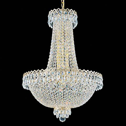 "Schonbek Camelot 19 1/2""W Aurelia and Crystal Chandelier"