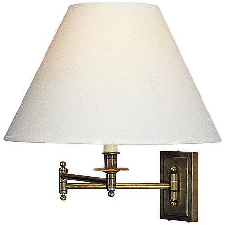 Lamps Plus Plug In Wall Sconces : Kinetic Collection Brass Plug-In Swing Arm Wall Lamp - #72849 Lamps Plus