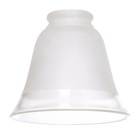 """2 1/4"""" Fitter Set of Four Frosted Glass w/ Clear Trim Shades"""