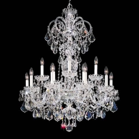 Schonbek Olde World 32W Silver Swarovski Crystal