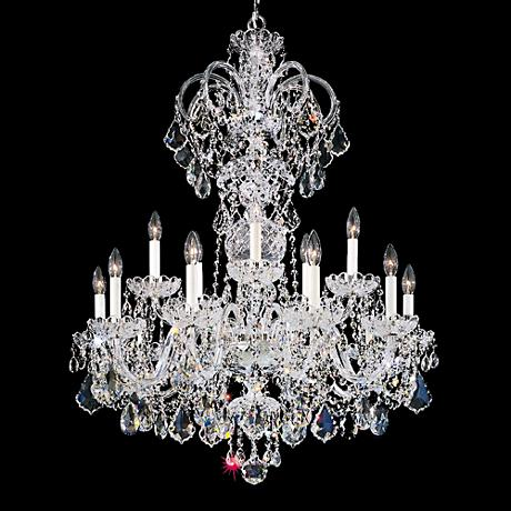 schonbek olde world 32 w silver swarovski crystal. Black Bedroom Furniture Sets. Home Design Ideas