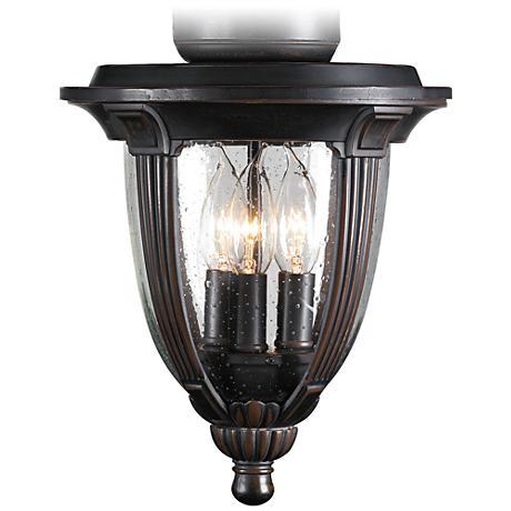 Bronze Clear Seedy Glass Ceiling Fan Light Kit