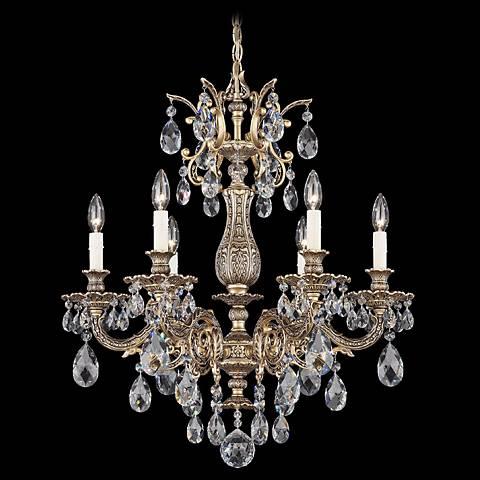 Schonbek La Scala Six Light Crystal Chandelier 07569 – La Scala Chandelier