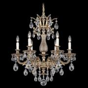"Schonbek Milano 24"" Wide Bronze Clear Crystal Chandelier"