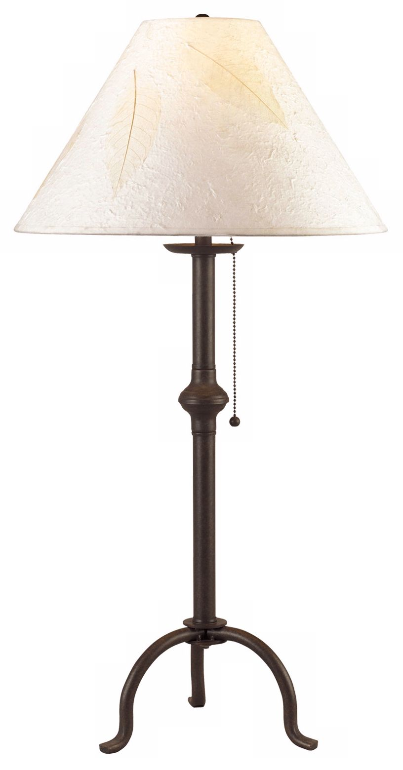craftsman collection pennyfoot wrought iron table lamp - Cal Lighting