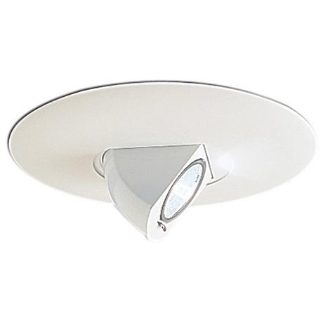 "Nora 6"" White Adjustable Angle Recessed Light Trim"