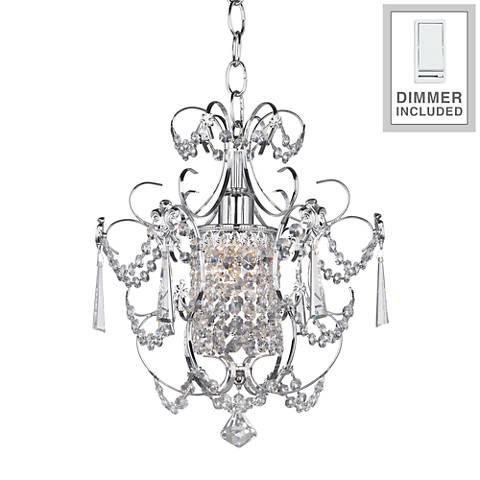 """Schonbek Century 12 1/2"""" W Silver Chandelier w/ Dimmer"""