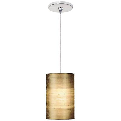 "Fab 5 1/4"" Wide Almond Freejack Mini Pendant with Canopy"