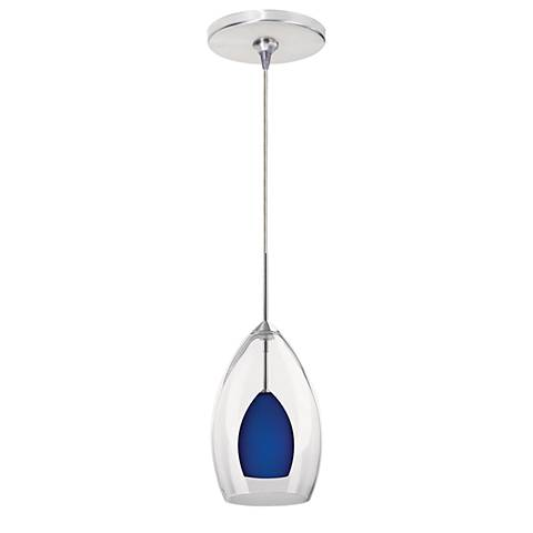 """Inner Fire 4 1/2""""W Chrome Freejack Mini Pendant with Canopy"""