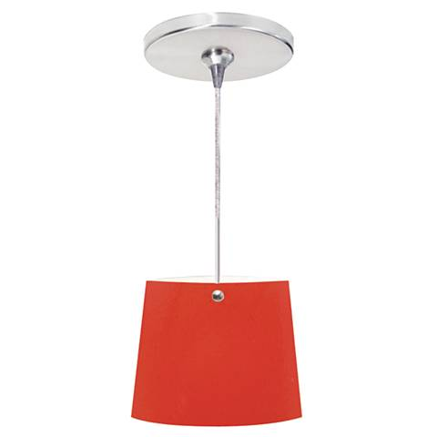 "Jaclien 6"" Wide Chrome Freejack Mini Pendant with Canopy"