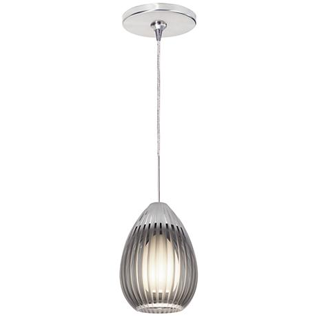 "Ava 4 3/4""W Chrome Freejack Mini Pendant"
