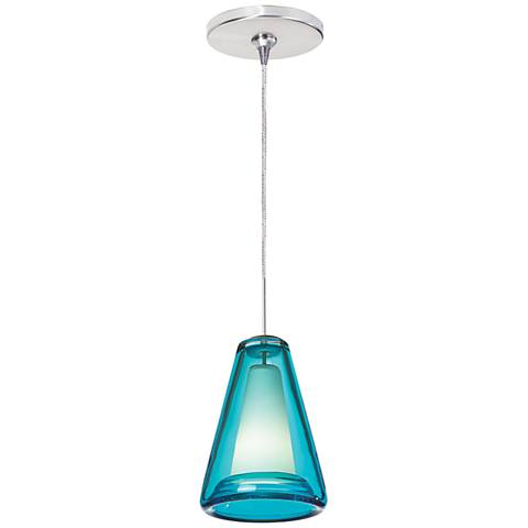 "Billow 5""W Chrome Freejack Mini Pendant"