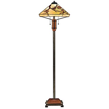 Quoizel Grove Park Tiffany Style Floor Lamp