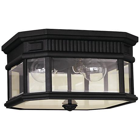 "Feiss Cotswold Lane 11 1/2""W Black Ceiling Light"