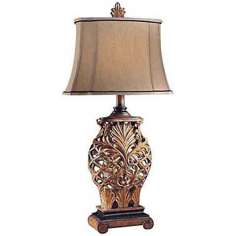 Jessica McClintock Weathered Lattice Table Lamp