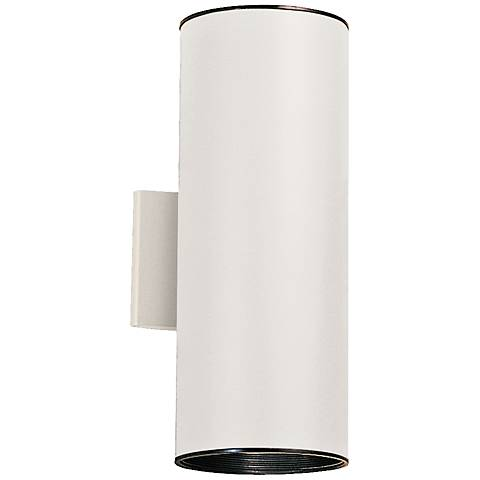 "Kichler Tube 15"" High White Up/Down Outdoor Wall Light"