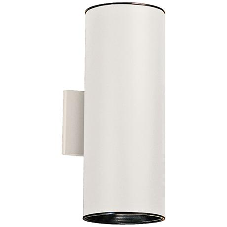 """Kichler Tube 15"""" High White Up/Down Outdoor Wall Light"""