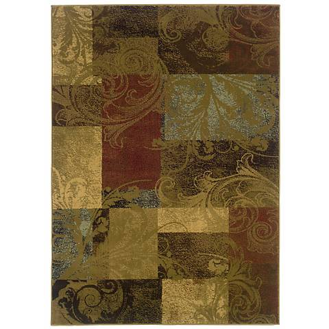 Harvest Scroll Area Rug