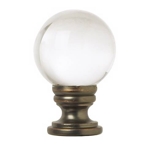 Crystal Ball Lamp Shade Finial