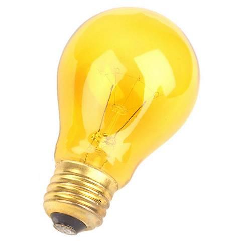 Yellow 25 Watt Party Light Bulb by Satco