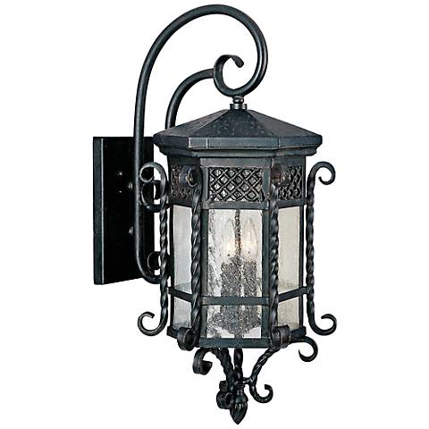 """Maxim Scottsdale 28"""" High Country Forge Outdoor Wall Light"""