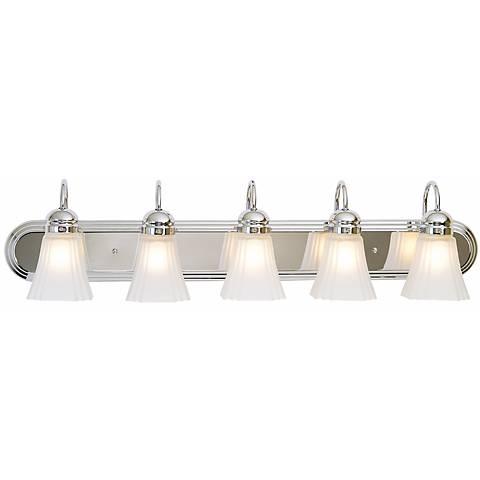 "Seneca Collection 36"" Wide Chrome Bathroom Light Fixture"
