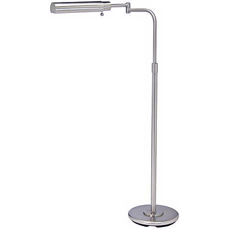 House of Troy Swing Arm Pharmacy Satin Nickel Floor Lamp