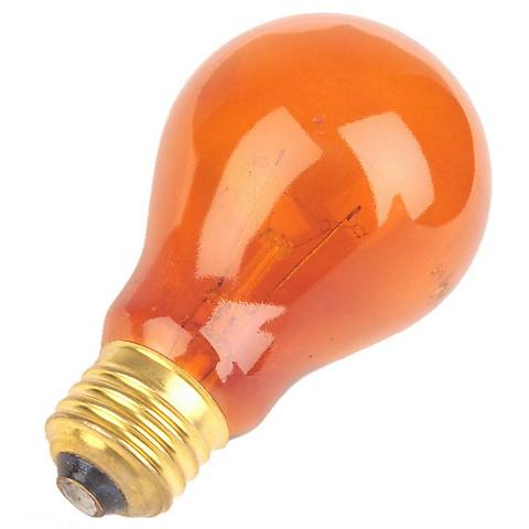 Orange 25 Watt Party Light Bulb by Satco